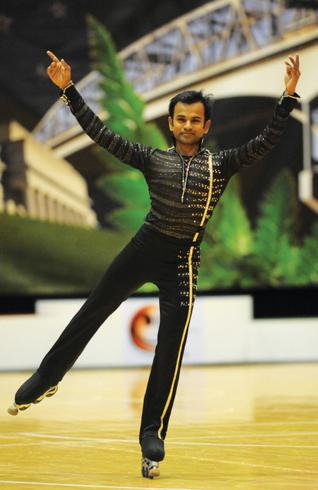Anup Kumar Yama of India who won two gold and three silver in the Asian roller-skating championship which concluded in China on Thursday. By Arrangement