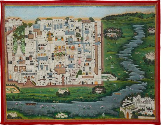 A pilgrimage map to Nathdwara temple are among the exhibits at the Kochi-Muziris Biennale.