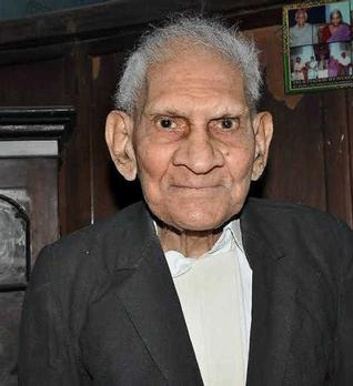 P.V. Raj Ganesh took to writing at the age of 85 and published two works on Western and Indian philosophies.–Photo: K.V. RAMANA.