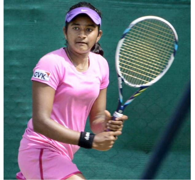 Yadlapalli Pranjala wants to realise her dream by playing in a Grand Slam.–Photo: By arrangement
