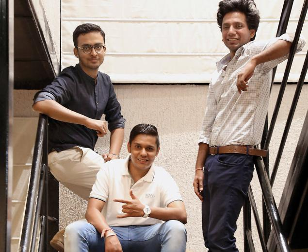 Akash Agarwal, Prashant Surana Jain and Sandeep Singh,co-founders of Snapper Technologies. -Photo: by arrangement