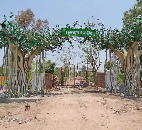 Steeped in history:The entrance of Gandhari Vanam in Adilabad district – Photos: S. Harpal Singh