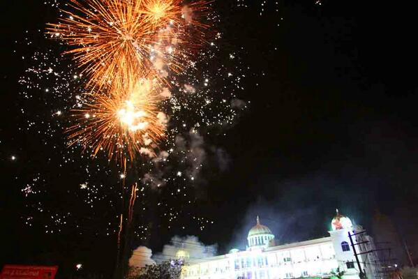 And the celebrations began, India's 29th State was born. Photo: Mohammad Yusuf